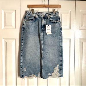 NWT ZARA Demi Midi Skirt
